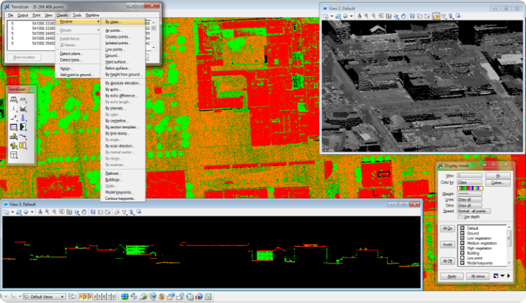 LIDAR building heights and footprint extraction