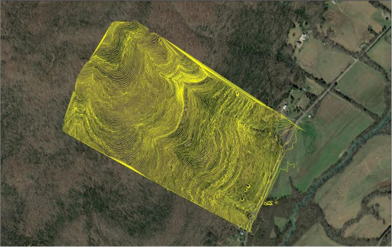 1m Topographic Contours Of Rock Farm Steep Terrain With True View 410 Sensor