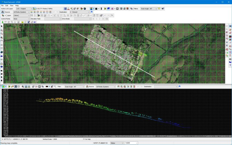 The Rock Farm Steep Terrain Drone LIDAR Mapping With GeoCue True View 410