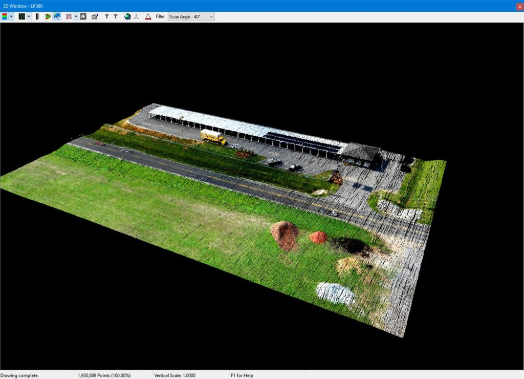 Colorized Point Cloud From The True View 410 Drone LIDAR