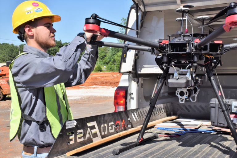 Surveying with True View 410 mounted on DJI M600