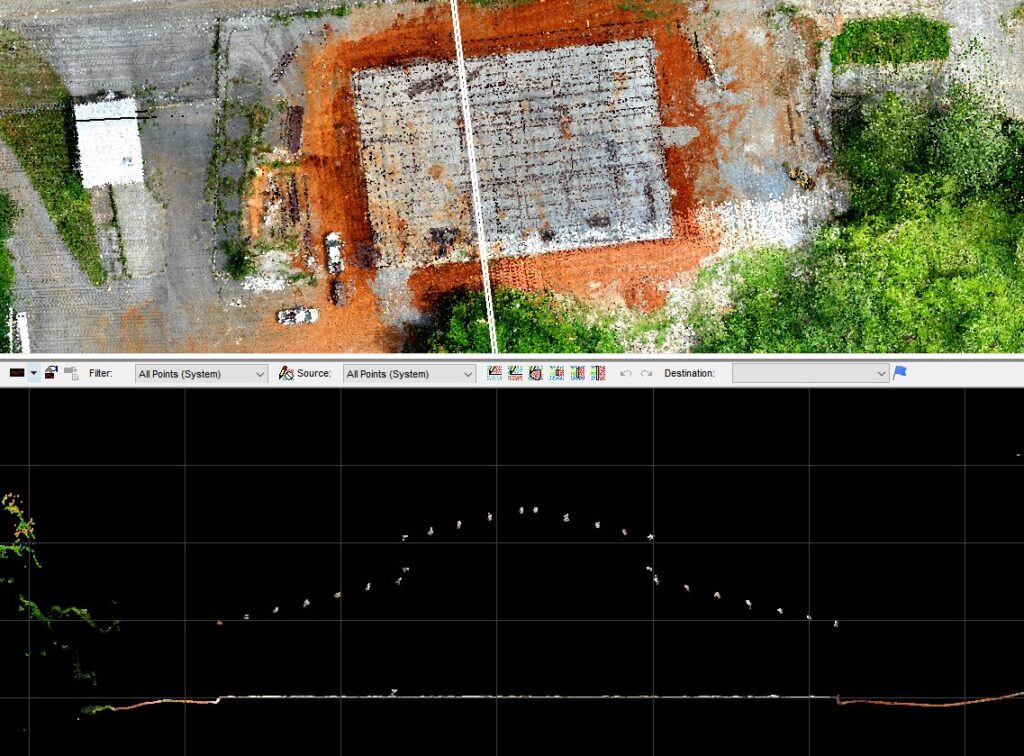 Colorized LIDAR View Of Site