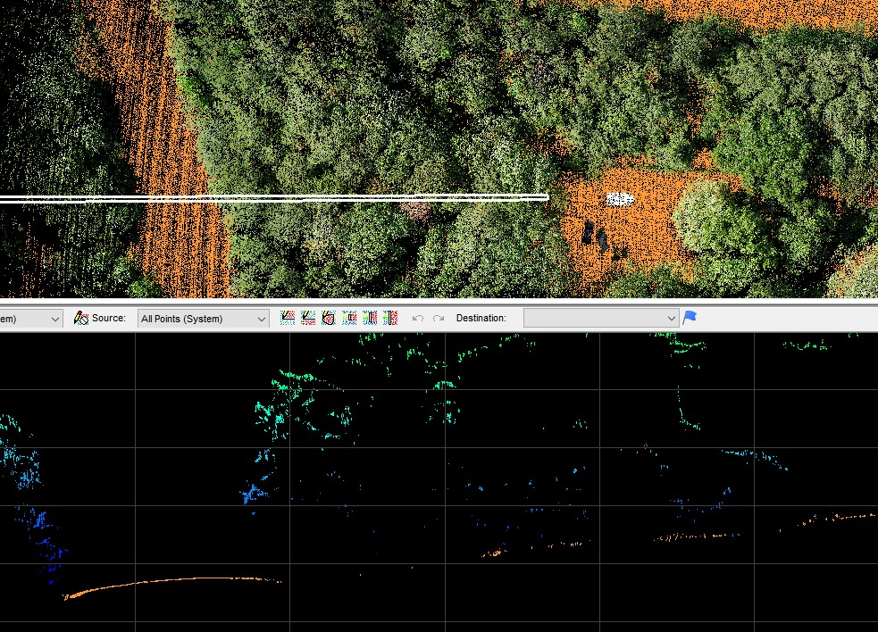Vegetated Area Imaged With A True View 410 3DIS LIDAR + Camera System