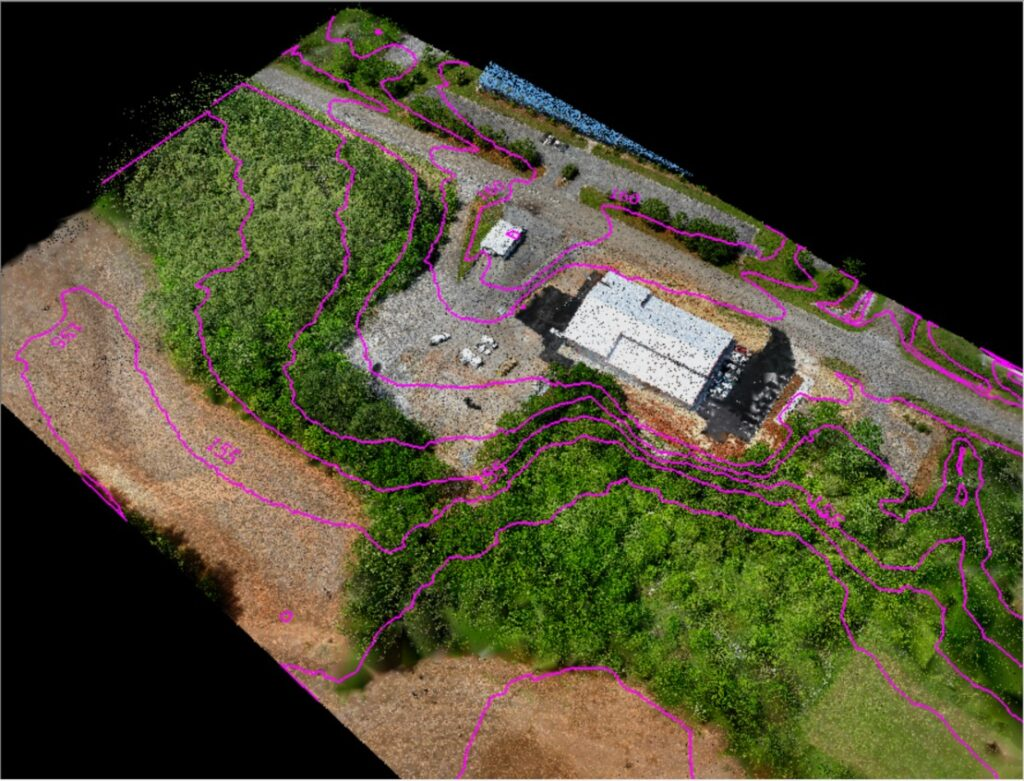 Ground Classified Blended 3D Image