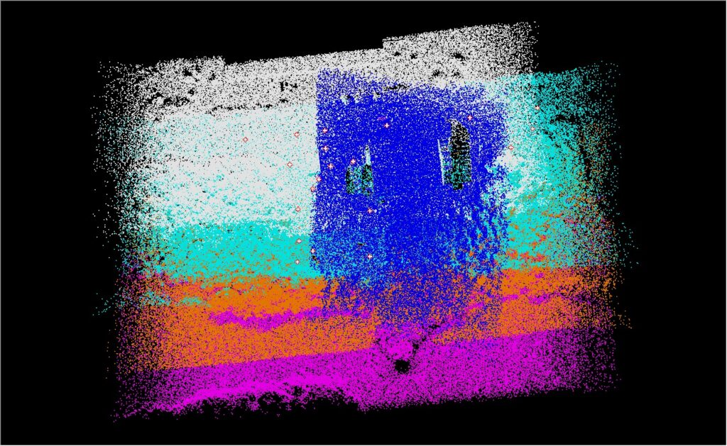 Drone LIDAR Project Colorized By Flight Line